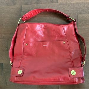 Samsara (Matt & Nat) Vegan Red Leather Hobo Bag